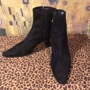 Black Faux Suede Booties by Nordstrom Size 11
